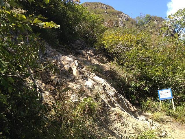 夜叉ヶ池 登山道 岩場