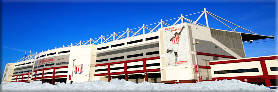 picture of Britannia Stadium snow scene