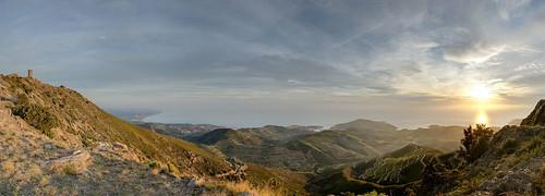 sea sky sun mountain seascape france sunrise vacances wine côte languedoc pyrénées méditerranée orientales