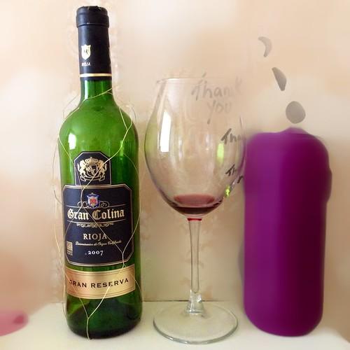 Gran Colina Rioja 2007. Red wine. Spanish wine. Wine. Rioja.