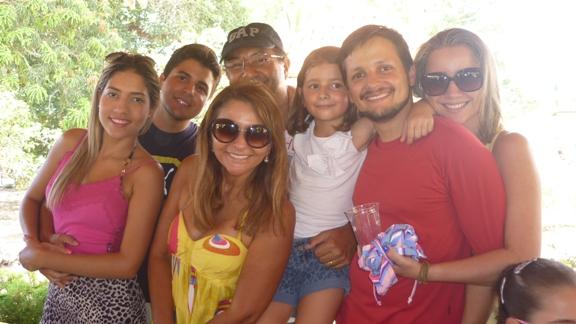 Roberto Branco com a familia