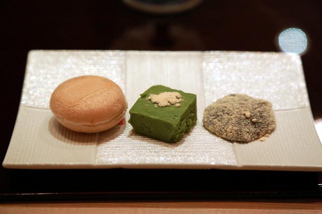 Hojicha Monaka, Warabi Mochi, Macha Chocolate
