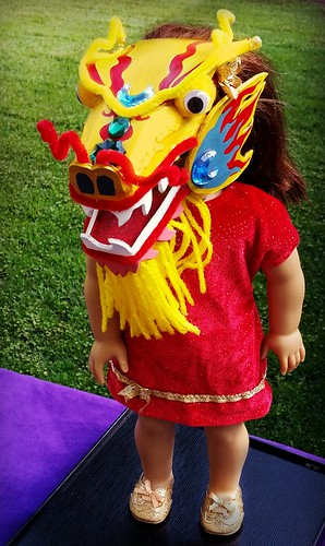 Chinese dragon American Girl doll mask (8)