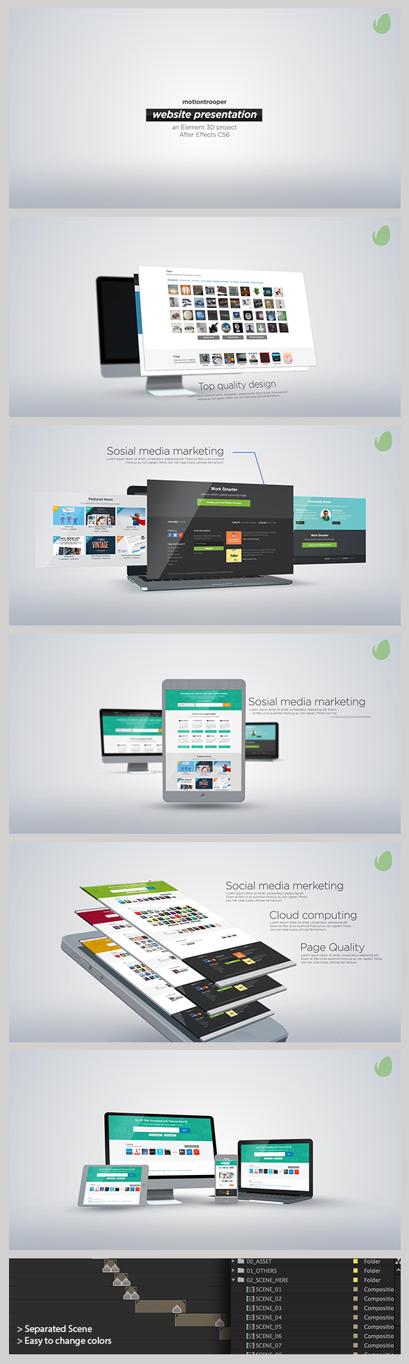 website presentation by motiontrooper videohive