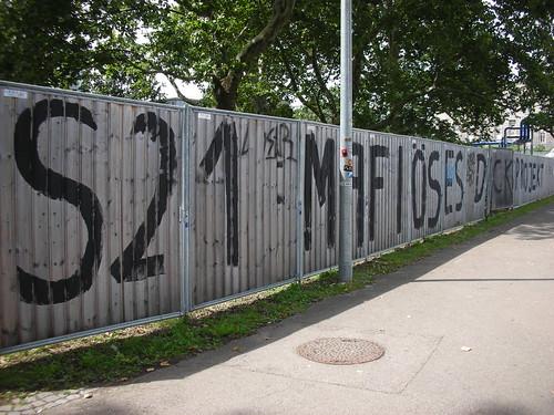 Stuttgart 21 area in Stuttgart