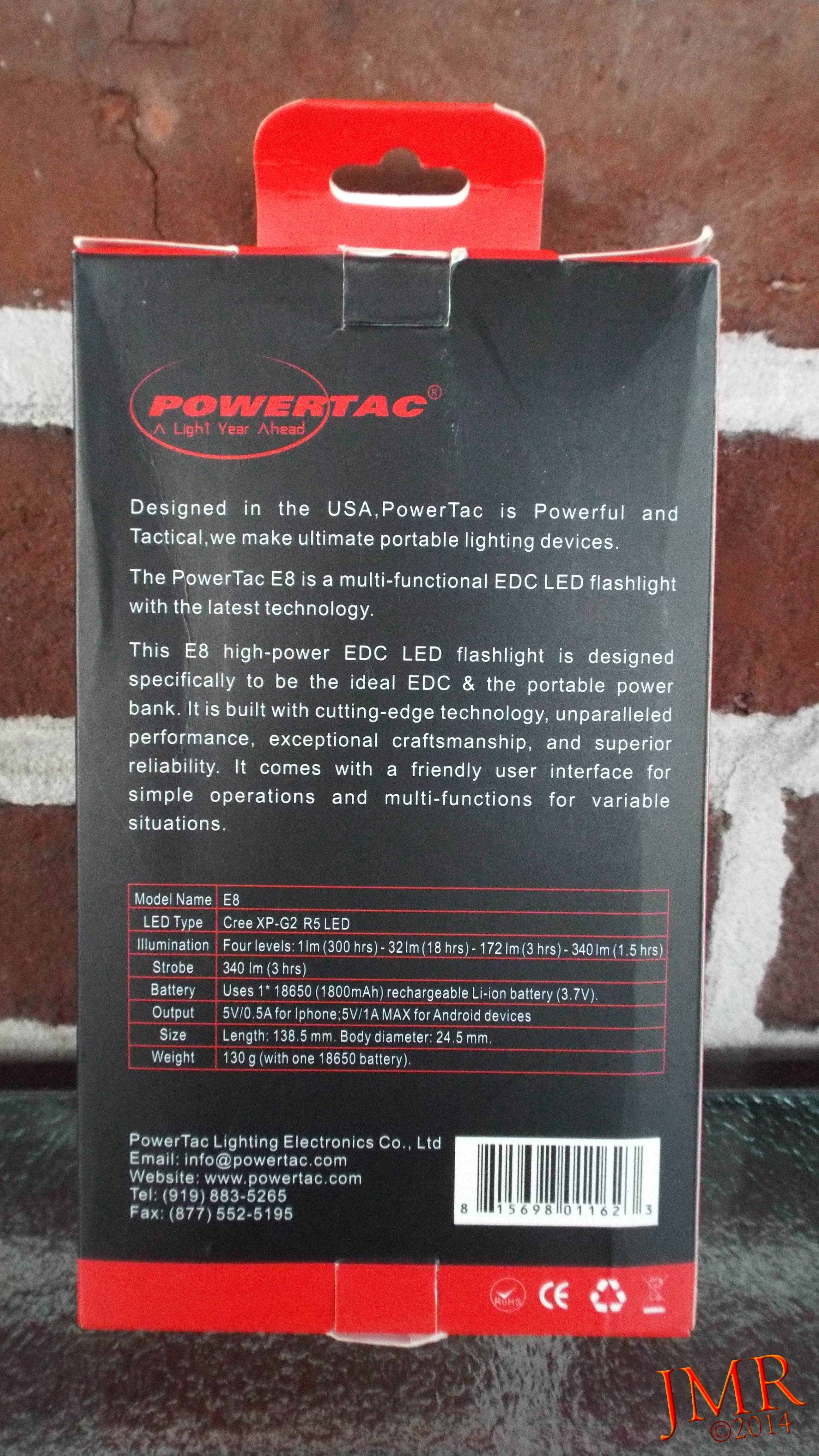 Review Powertac E8 Rechargeable Flashlight Power Supply Simple High Led Circuit Inside The Box Is A Clear Vacuum Molded Tray That Securely Holds And Its Included 18650 Cell Also User Manual