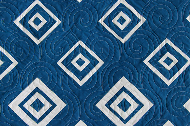 Quilt Pattern Diamonds In The Deep : Navy Diamonds in the Deep Bonjour Quilts