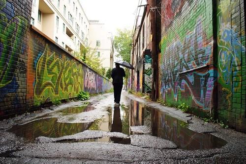 Graffiti ally in Toronto