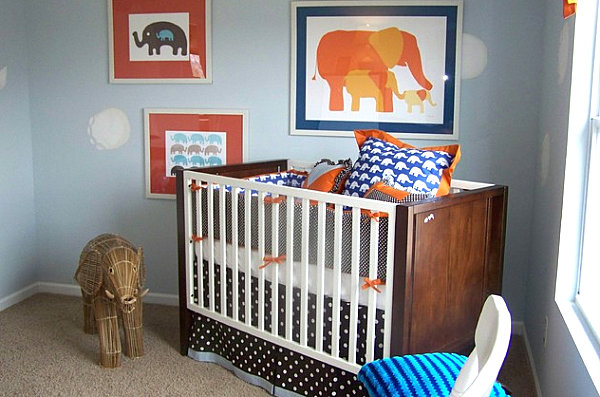 Elephant-themed-modern-nursery