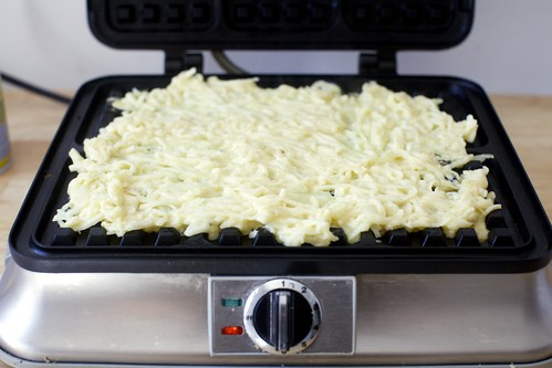 spread the mess on your waffle iron