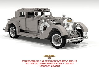 Duesenberg Rollston SJ Arlington Torpedo Sedan - 1933 - 'Twenty Grand'