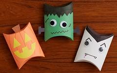 DIY Halloween Gift Boxes Frankenstein Jack O' Lantern and Dracula