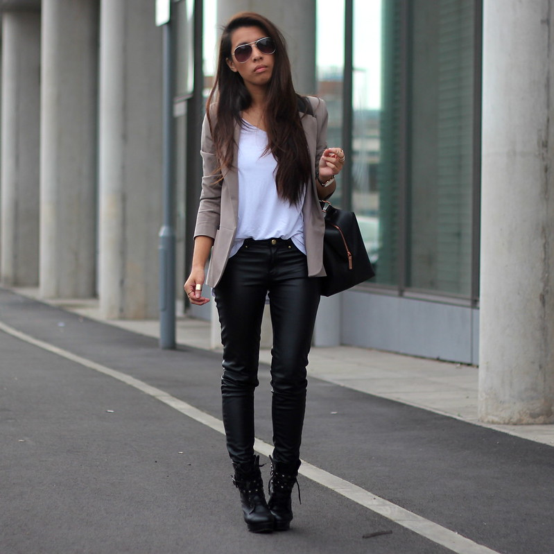 H&m Faux Leather Trousers