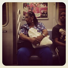 Tuesday night Q train. #nycsubwayportraits #nyc #train #subway #publictransportation #commute #Qtrain