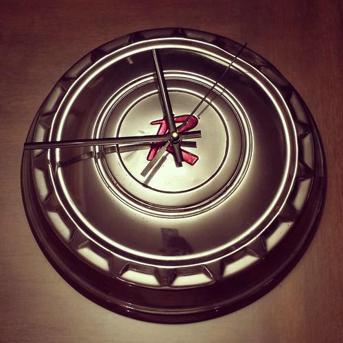 Rambler Hub Cap Clock