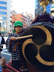 お祭り 山車 太鼓叩く 2014/9