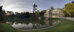 Panorámica del Amanecer en el Palacio de Cristal copia, Madrid
