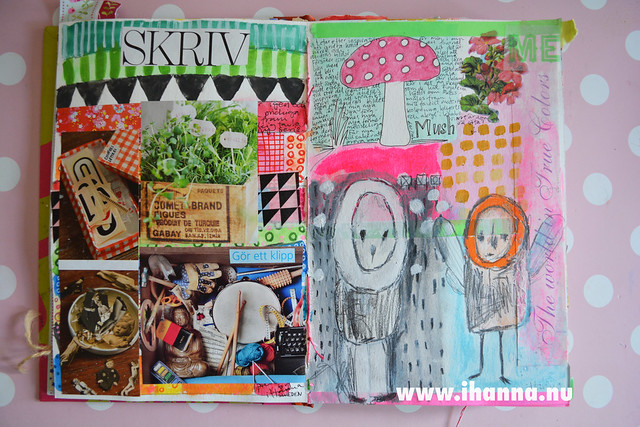 Art Journal Peek: Stuff and paint, by iHanna of www.ihanna.nu