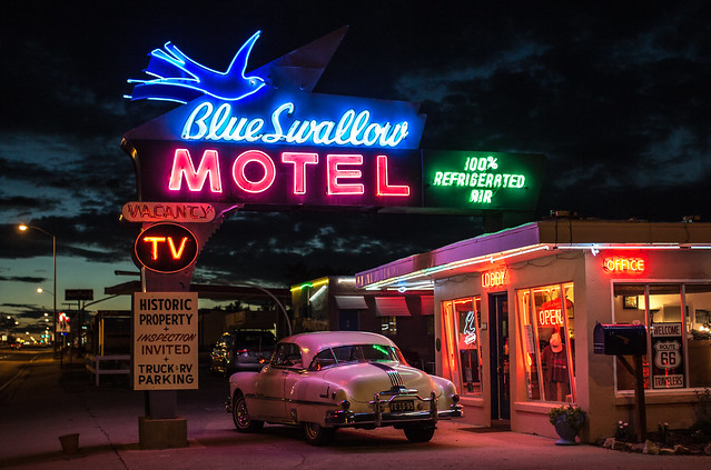 Blue Swallow Motel - 815 East Tucumcari Boulevard (Old U.S. Route 66), Tucumcari, New Mexico U.S.A. - September 9, 2014