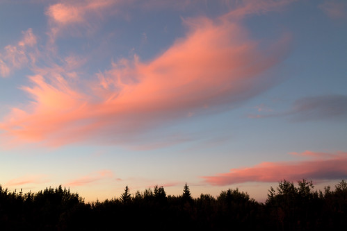 pink sunset sky cloud canada evening paint edmonton dusk alberta prairie edson