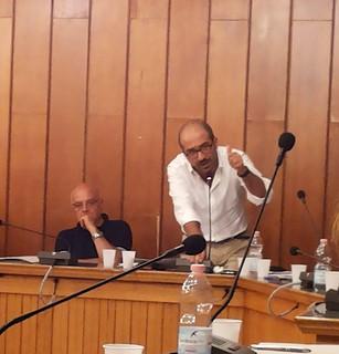 Il consigliere Pinuccio Valenzano J, tra l'altro candidato alla Città Metropolitana