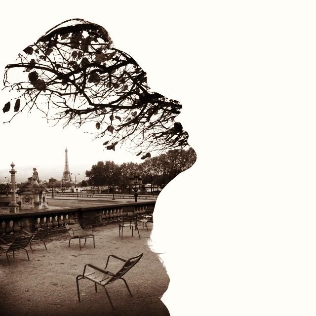 From Paris with love. #doubleexposure #parislovers #autumn #autumnweather #paris #silouette #womanface #fashion #igukraine #artukraine