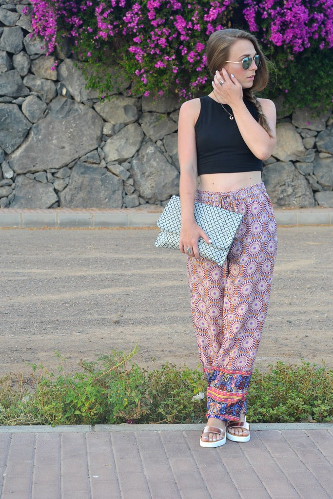 PRINTED PRIMARK TROUSERS