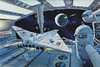 Docking Port Space City (Space Station 2000) by Robert McCall, 1960s