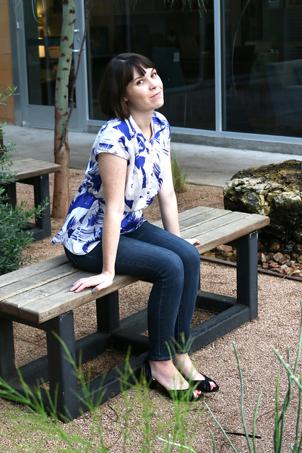 Marigold Peplum Top by Blank Slate Patterns