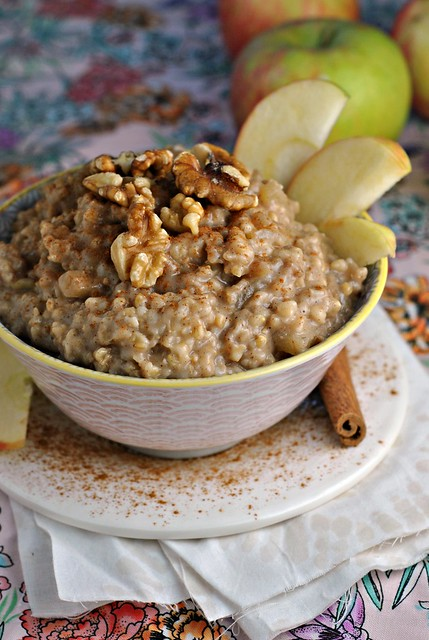 Crock Pot Apple Cinnamon Steel Cut Oats 4