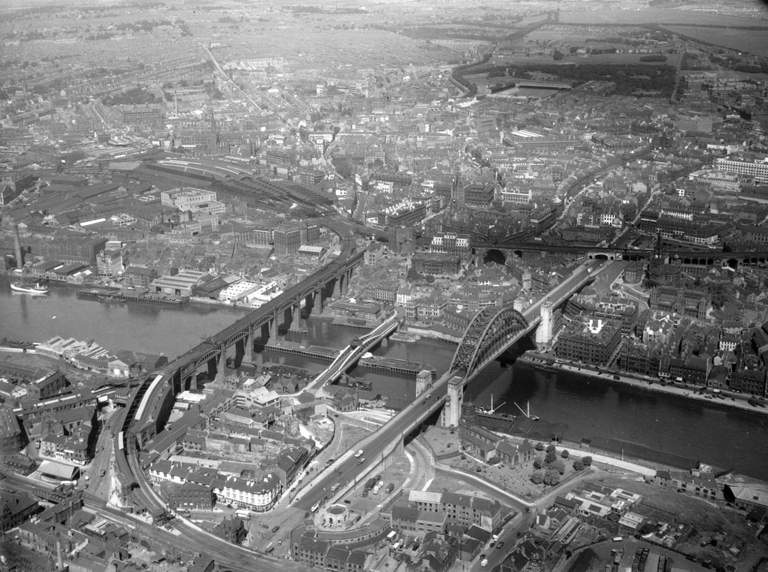 Bridges over the River Tyne, 1952