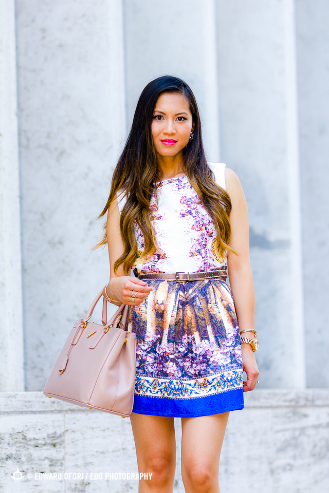 NYFW New York Fashion Week September 2014 Spring/Summer 2015 street style Choies graphic painting dress
