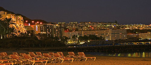 Patalavaca beach - Atlantic coastline at night