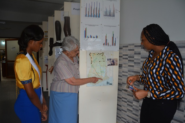 Miss Ghana Foundation donates to Nsawam Orthopedic Training Centre