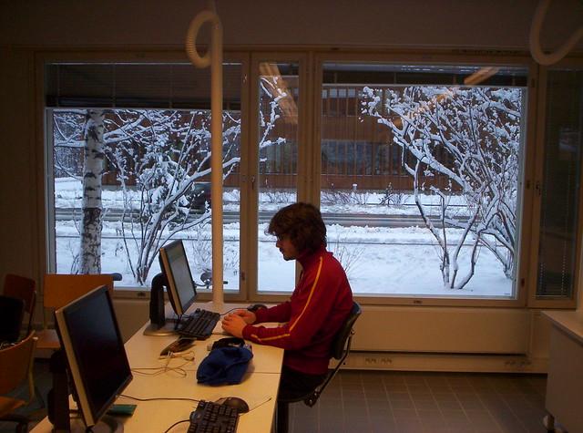 Aula de informática de mi Erasmus
