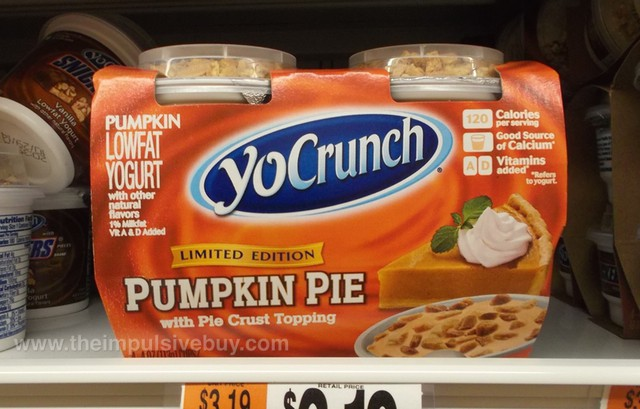 YoCrunch Limited Edition Pumpkin Pie Yogurt
