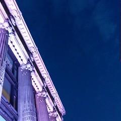 London sky and Selfridge's
