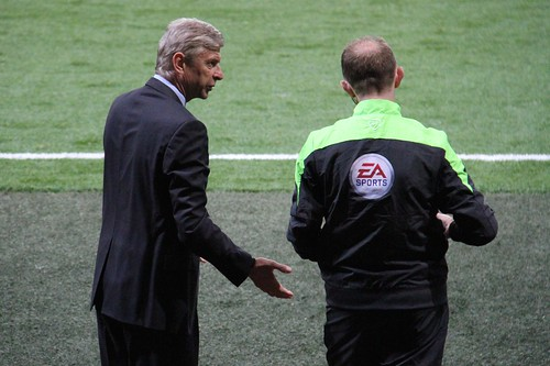 Arsène Wenger and the 4th Official 2