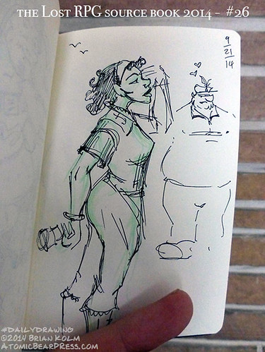 09-21-2014 #dailydrawing #lostRPG sailor lass