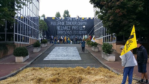 Stop TAFTA ! Occupation du siège social de Cargill