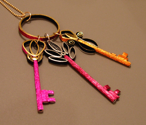 Quilled Necklace - Ring of Keys - Ann Martin