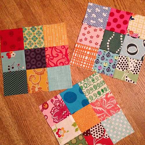 267:365 First set of #scrappypostagestampqal blocks.