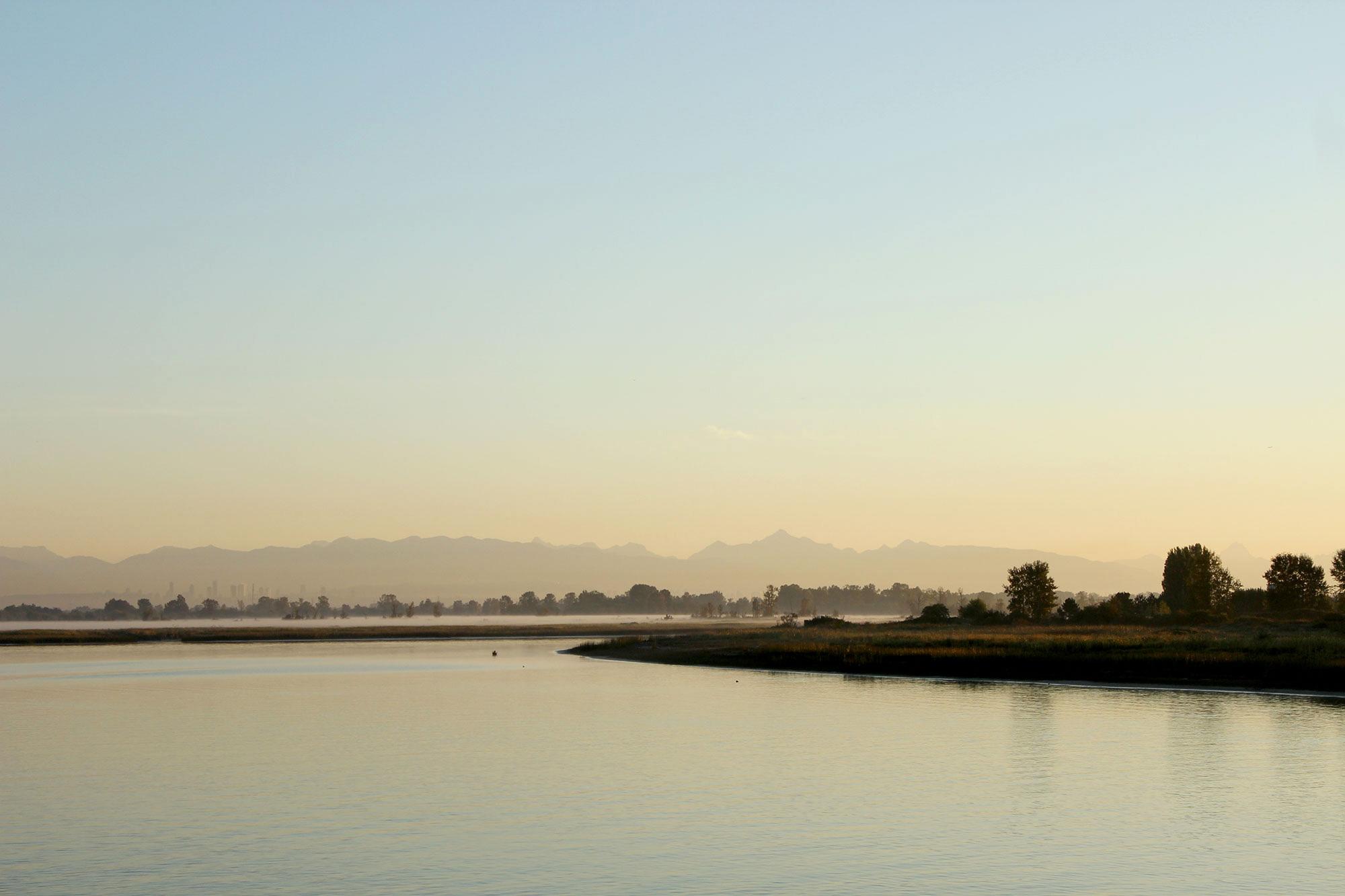 westham island sunrise bc canada