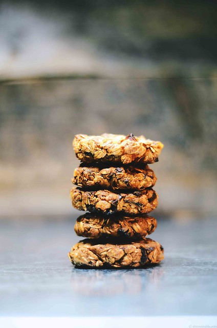 Dried Apricot and Fig Almond Oatmeal Cookies | A Brown Table
