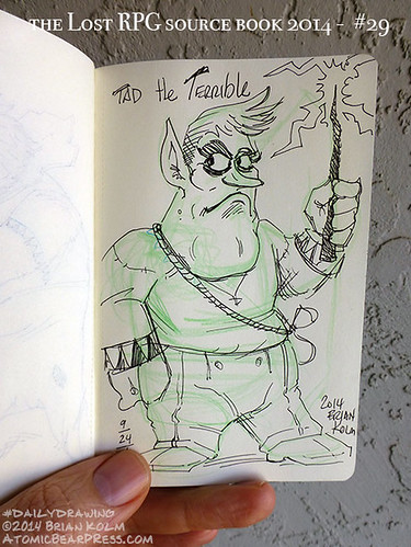 09-24-2014 #dailydrawing #lostRPG Tad the Terrible