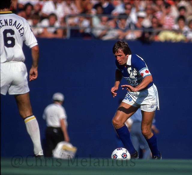 Whitecaps vs Cosmos 1979 - Derek Possee and Franz Beckenbauer