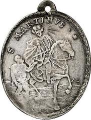 St. Leonard of Noblat. Silver pendant reverse