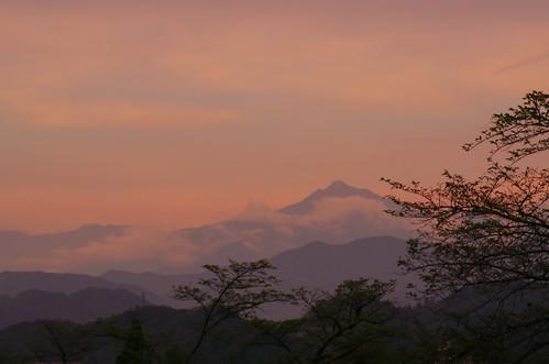 sunset mountains japan pentax takayama hida k50 trotaparamos