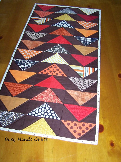 Fall Flying Geese Table Runner