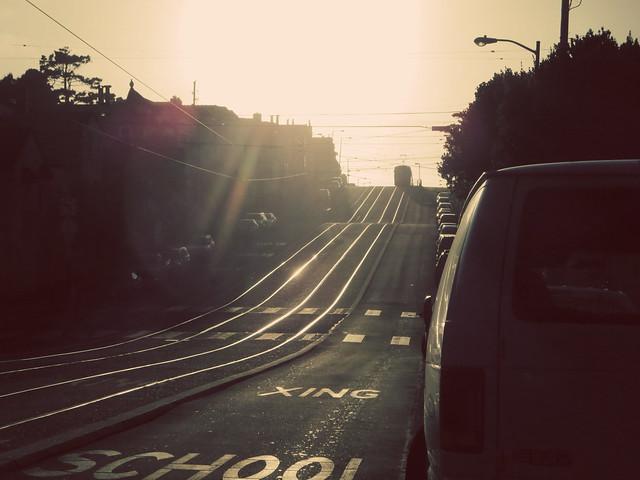 N Judah at 24th Avenue; The Sunset, San Francisco (2014)
